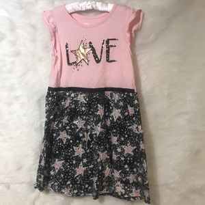 Child's Pink & Black Dress